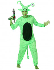 Miesten naamiaisasu vihreä avaruusolio