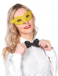 Keltainen venetsialainen naamio aikuisille
