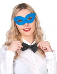 Sininen venetsialainen naamio aikuisille
