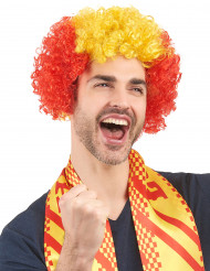 Aikuisten peruukki Espanjan lipun väreissä
