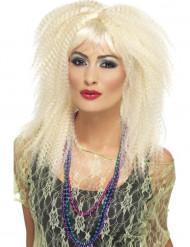 Naisen vaalea, krepattu peruukki