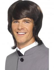 60-luvun ruskea peruukki aikuisille