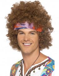 Ruskea afroperuukki ja hippikoru aikuisille