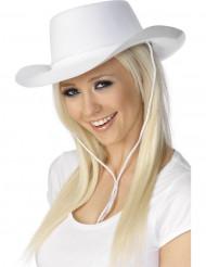 Valkoinen cowboy-hattu aikuisille