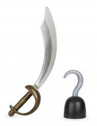 Asustesetti Merirosvon miekka ja koukku