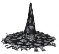 Noidan mustaharmaa halloween-hattu