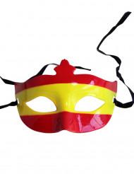 Puolinaamio Espanjan lipun väreillä