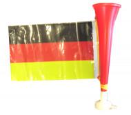 Jalkapallofanin torvi Saksan lipulla