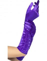 Pitkät violetit käsineet naisille