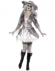 Naisten Halloween kummitusmerirosvo naamiaispuku