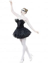 Naisten naamiaisasu ballerinan musta balettimekko