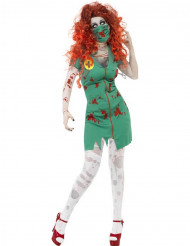 Zombisairaanhoitajan naamiaisasu naiselle halloween