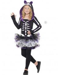 Luurangon violetti naamiasiasu tytölle halloween