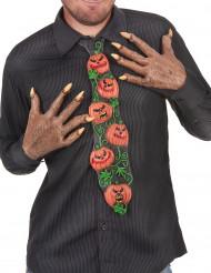 Kravatti kurpitsakuviolla
