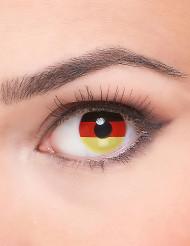 Aikuisen piilolinssit Saksan lipun väreissä