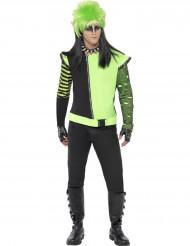 Goottityylinen vihreä takki miehelle