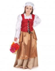 Keskiaikaisen talonpoikaisnaisen naamiaisasu tytölle