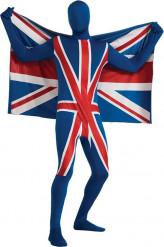 Aikuisen second skin -haalari Iso-Britannian väreissä