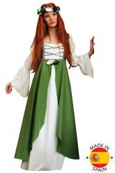 Keskiaikainen neito -asu naisille
