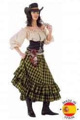 Pitkähelmainen cowgirl- asu