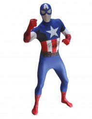 Kapteeni Amerikan™ second skin -naamiaisasu aikuiselle Morphsuits™