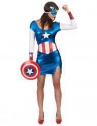 Kapteenitar Amerikan naamiaisasu aikuiselle