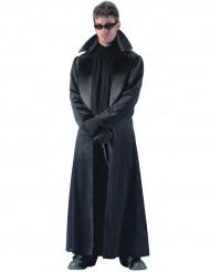 Miesten naamiaisasu pitkä musta takki