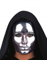 Metallisen hopeinen naamio aikuisille