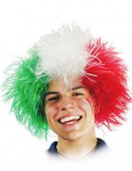 Aikuisten peruukki Italian lipun väreillä