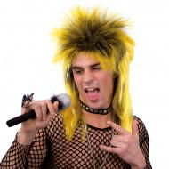 Keltainen punk-peruukki aikuisille