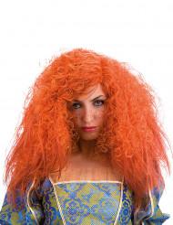 Oranssi kiharaperuukki naiselle