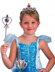 Lasten hopeinen prinsessan asustesetti