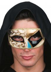 Mustakultainen venetsialainen naamio