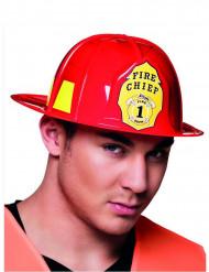 Punainen palomiehen kypärä aikuiselle