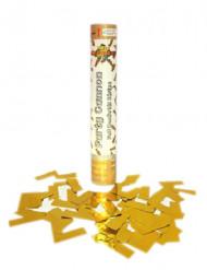 Kultainen konfettiputki 30 cm