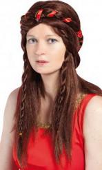 Naisten ruskea peruukki, keskiaika