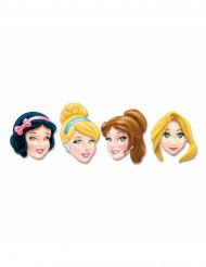 4 kpl pahvisia Disney Prinsessat™ naamareita