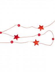 Punainen koristenauha tähtikuvioinnilla 180 cm