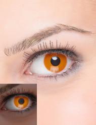 UV-valossa hohtavat oranssit fantasiapiilolinssit aikuisille