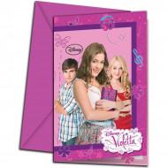 Violetta™-kutsukortit ja kirjekuoret, 6 kpl