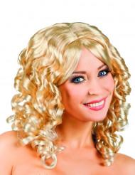 Naisten kihara vaalea peruukki