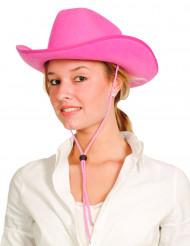 Pinkki cowboyhattu aikuiselle