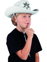 Lasten valkoinen sheriffihattu