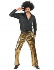 Miehen kullanväriset housut
