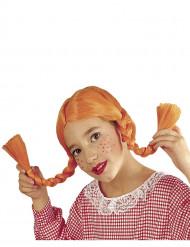 Oranssi peruukki leteillä lapsille