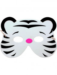 Lasten valkoinen tiikerinaamio