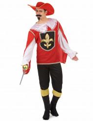 Miesten Punainen naamiaisasu muskettisoturi