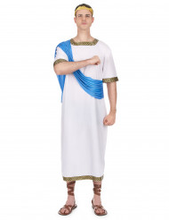 Kreikkalaisen jumalan asu sinisellä huntulla miehille