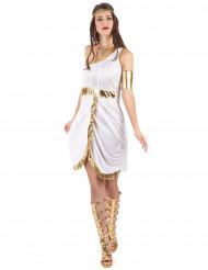 Kreikkalaisen jumalattaren asu kultaisilla yksityskohdilla