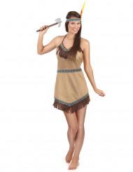 Intiaanineidon mairitteleva mekko - Naamiaisasu aikuisille